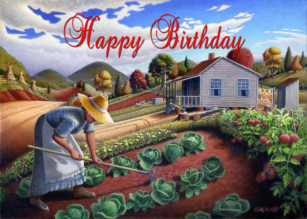 Alabama Painting - no13A Happy Birthday by Walt Curlee