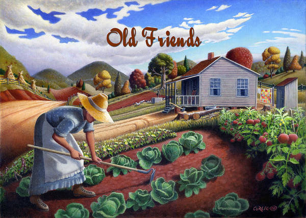 Wall Art - Painting - no13A Old Friends by Walt Curlee