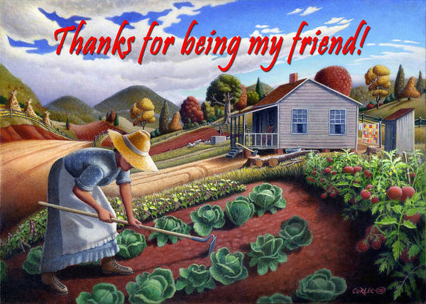 Wall Art - Painting - no13A Thanks for being my friend by Walt Curlee