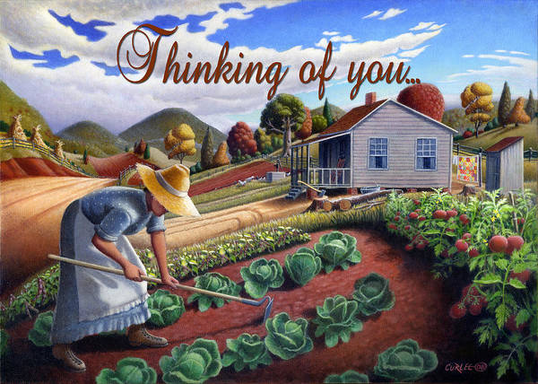Wall Art - Painting - no13A Thinking of you by Walt Curlee