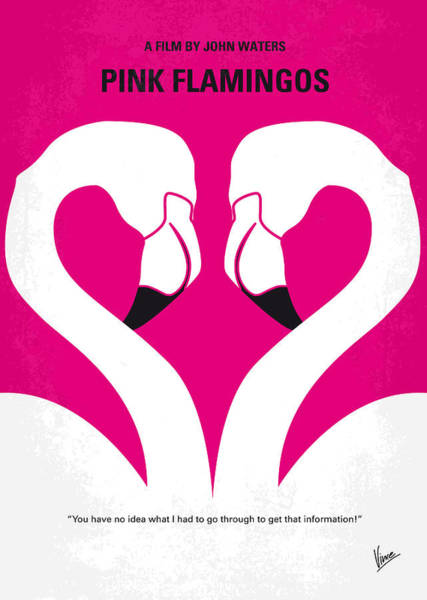 Cookie Wall Art - Digital Art - No142 My Pink Flamingos Minimal Movie Poster by Chungkong Art