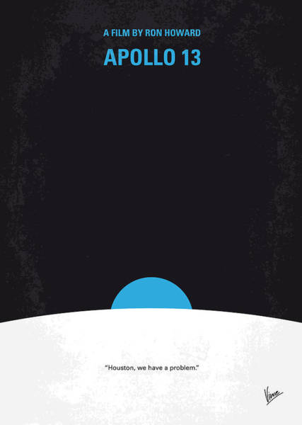 Astronaut Digital Art - No151 My Apollo 13 Minimal Movie Poster by Chungkong Art