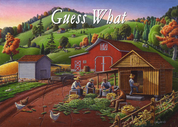Wall Art - Painting - no16 Guess What by Walt Curlee