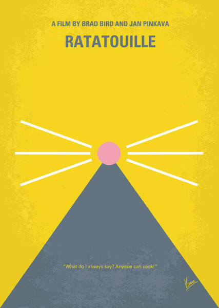 France Wall Art - Digital Art - No163 My Ratatouille Minimal Movie Poster  by Chungkong Art