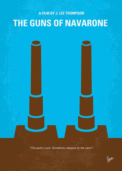 Greek Islands Wall Art - Digital Art - No168 My The Guns Of Navarone Minimal Movie Poster by Chungkong Art