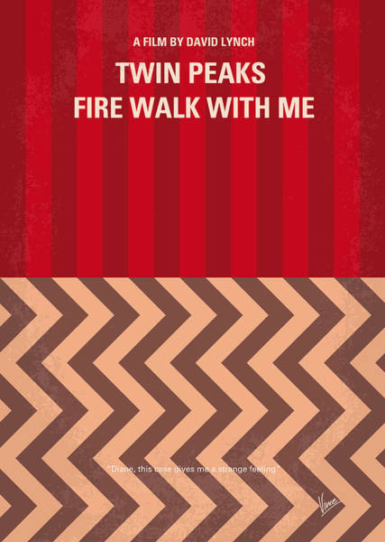 Peak Digital Art - No169 My Fire Walk With Me Minimal Movie Poster by Chungkong Art