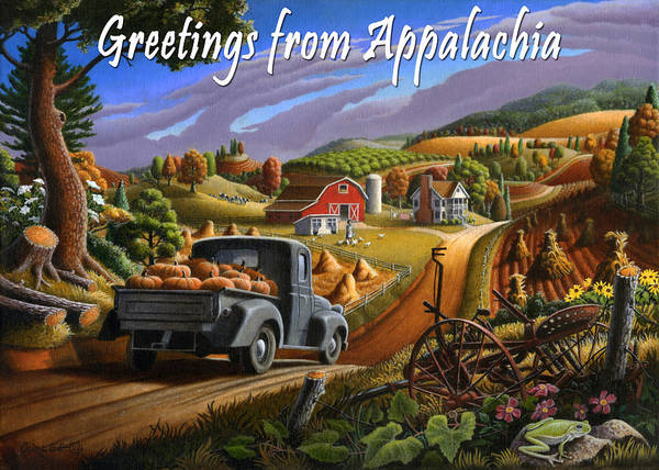 Alabama Painting - no17 Greetings from Appalachia by Walt Curlee