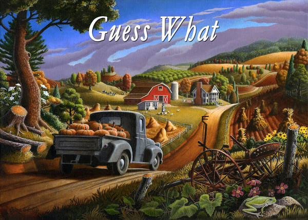 Alabama Painting - no17 Guess What by Walt Curlee