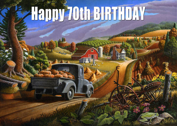 Alabama Painting - no17 Happy 70th Birthday by Walt Curlee
