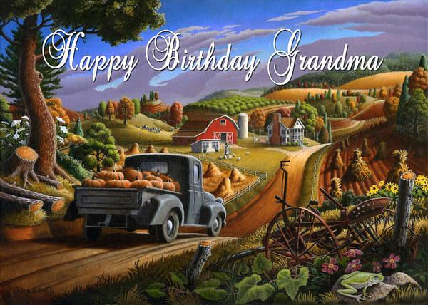 South Alabama Painting - no17 Happy Birthday Grandma by Walt Curlee
