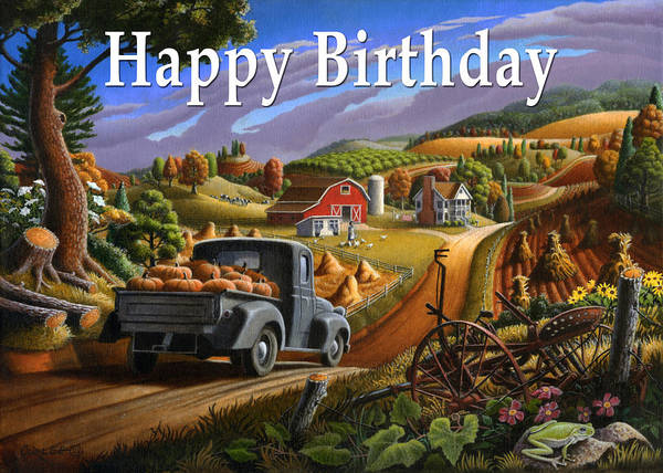 Alabama Painting - no17 Happy Birthday by Walt Curlee