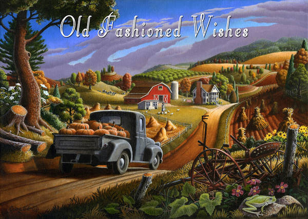 Wall Art - Painting - no17 Old Fasioned Wishes by Walt Curlee