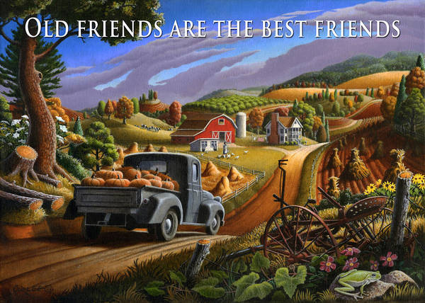 Alabama Painting - no17 Old friends are the best friends by Walt Curlee