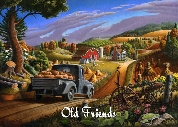Alabama Painting - no17 Old friends by Walt Curlee