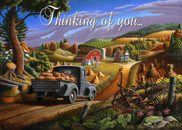 Wall Art - Painting - no17 Thinking of you by Walt Curlee