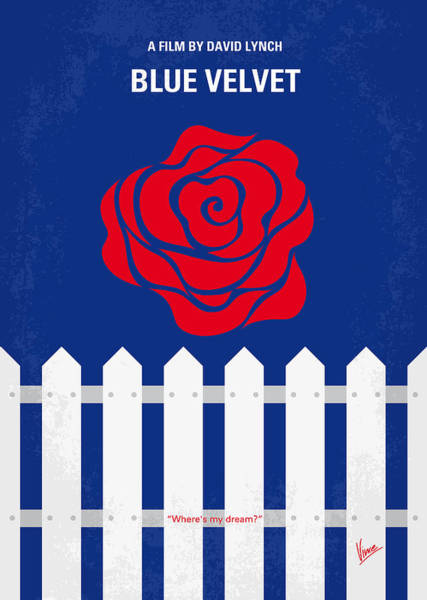Wall Art - Digital Art - No170 My Blue Velvet Minimal Movie Poster by Chungkong Art