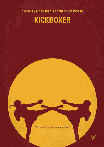 Thai Wall Art - Digital Art - No178 My Kickboxer Minimal Movie Poster by Chungkong Art