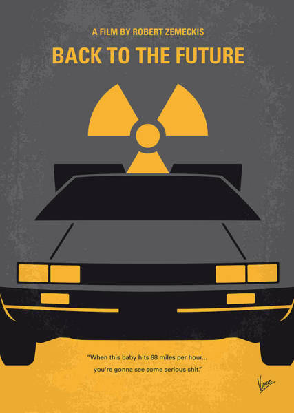 Simple Digital Art - No183 My Back To The Future Minimal Movie Poster by Chungkong Art