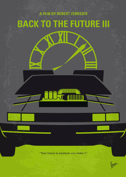 Wall Art - Digital Art - No183 My Back To The Future Minimal Movie Poster-part IIi by Chungkong Art
