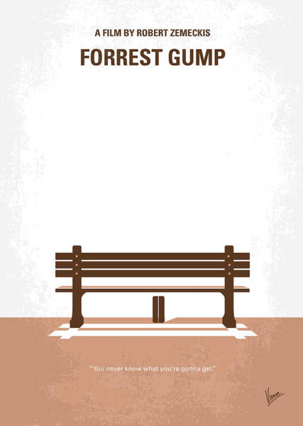 Chocolate Wall Art - Digital Art - No193 My Forrest Gump Minimal Movie Poster by Chungkong Art