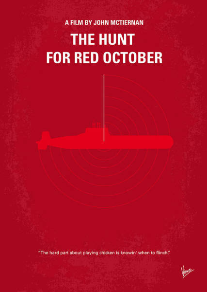 Wall Art - Digital Art - No198 My The Hunt For Red October Minimal Movie Poster by Chungkong Art