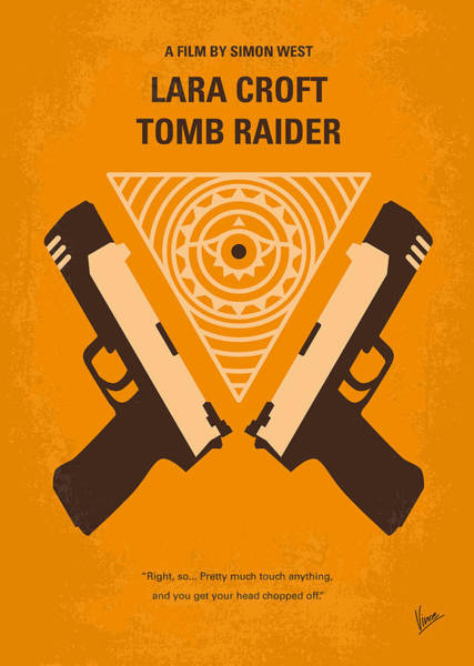 Wall Art - Digital Art - No209 Lara Croft Tomb Raider Minimal Movie Poster by Chungkong Art