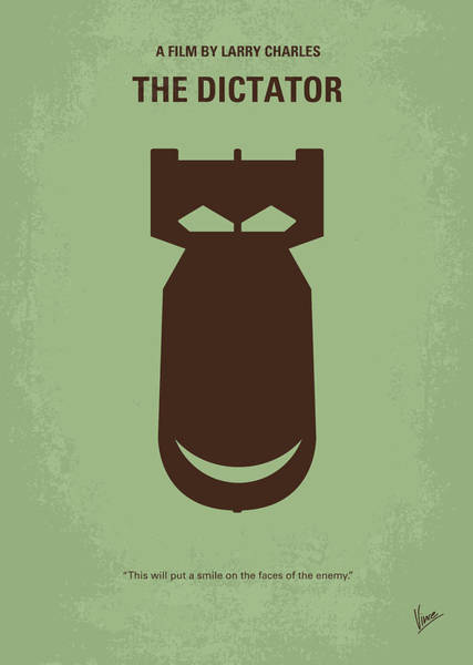 Weapons Digital Art - No212 My The Dictator Minimal Movie Poster by Chungkong Art