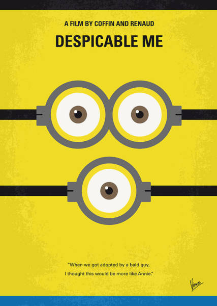 Wall Art - Digital Art - No213 My Despicable Me Minimal Movie Poster by Chungkong Art