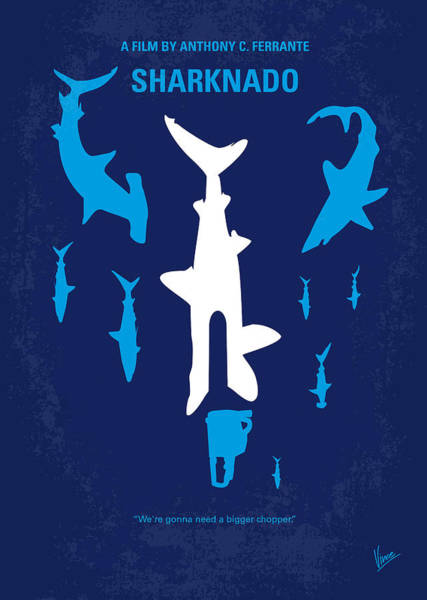 California Beaches Digital Art - No216 My Sharknado Minimal Movie Poster by Chungkong Art