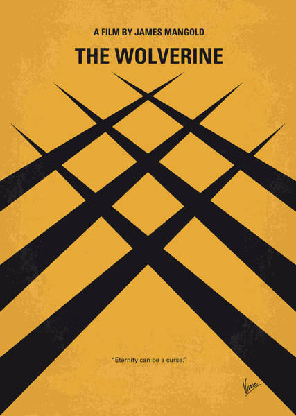 Wall Art - Digital Art - No222 My Wolverine Minimal Movie Poster by Chungkong Art