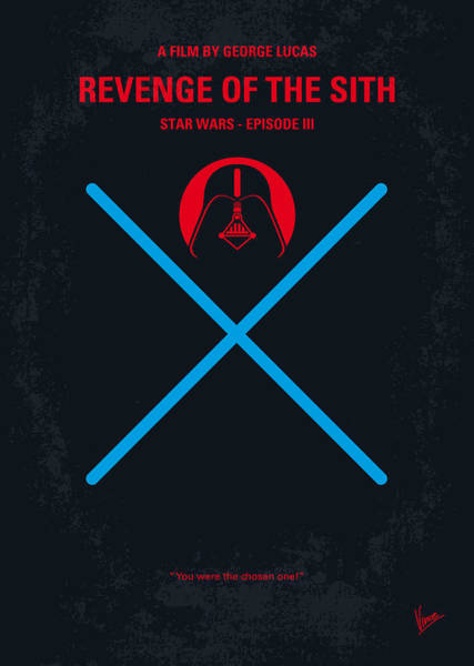 Sith Digital Art - No225 My Star Wars Episode IIi Revenge Of The Sith Minimal Movie Poster by Chungkong Art