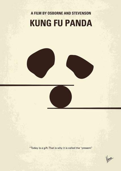 Dragon Digital Art - No227 My Kung Fu Panda Minimal Movie Poster by Chungkong Art