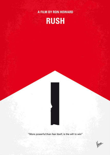 Hunt Digital Art - No228 My Rush Minimal Movie Poster by Chungkong Art