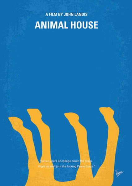 House Wall Art - Digital Art - No230 My Animal House Minimal Movie Poster by Chungkong Art