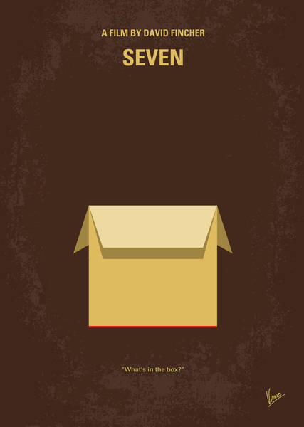 Simple Digital Art - No233 My Seven Minimal Movie Poster by Chungkong Art