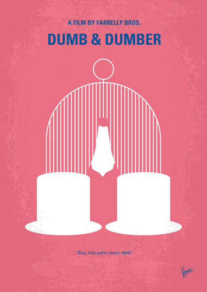 Wall Art - Digital Art - No241 My Dumb And Dumber Minimal Movie Poster by Chungkong Art