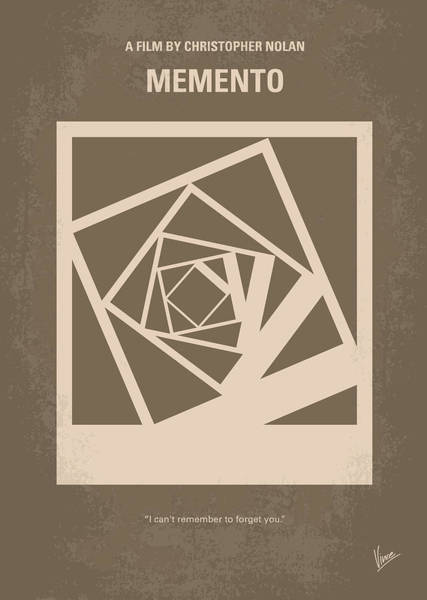 Wall Art - Digital Art - No243 My Memento Minimal Movie Poster by Chungkong Art