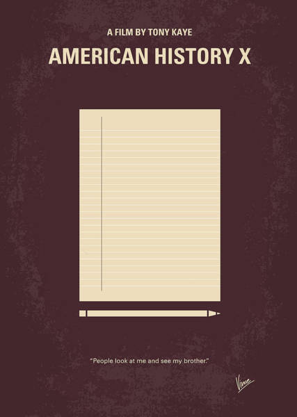 Landmarks Digital Art - No247 My American History X Minimal Movie Poster by Chungkong Art