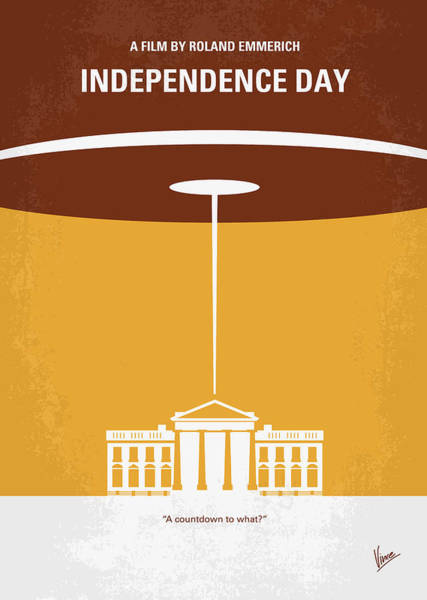 Wall Art - Digital Art - No249 My Independence Day Minimal Movie Poster by Chungkong Art