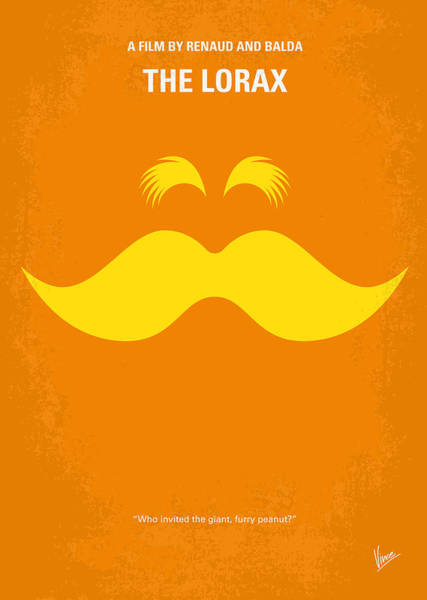 Wall Art - Digital Art - No261 My The Lorax Minimal Movie Poster by Chungkong Art