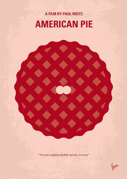 No262 My American Pie Minimal Movie Poster Art Print
