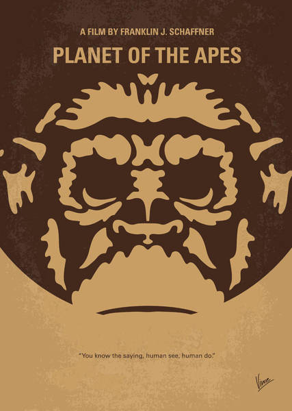Planet Digital Art - No270 My Planet Of The Apes Minimal Movie Poster by Chungkong Art