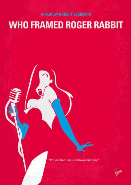 Alternative Comedy Digital Art - No271 My Roger Rabbit Minimal Movie Poster by Chungkong Art
