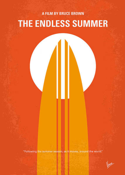 Simple Digital Art - No274 My The Endless Summer Minimal Movie Poster by Chungkong Art