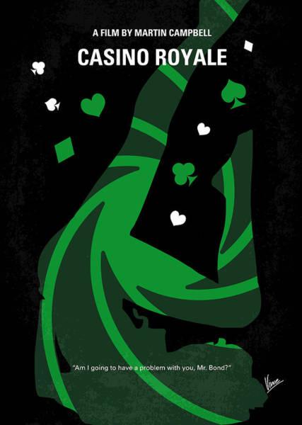Casino Royale Digital Art - No277-007-2 My Casino Royale Minimal Movie Poster by Chungkong Art