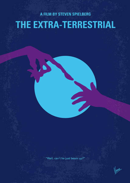 Wall Art - Digital Art - No282 My Et Minimal Movie Poster by Chungkong Art