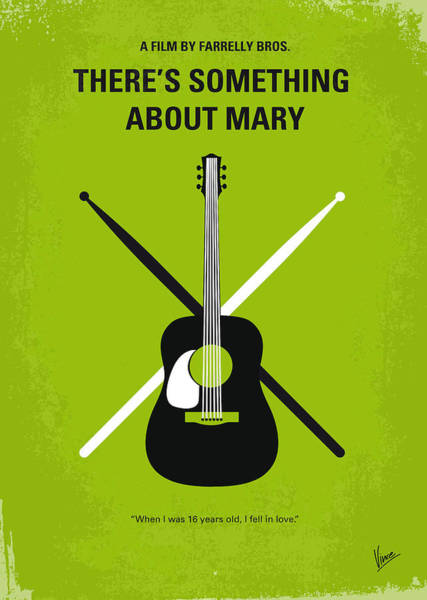 Wall Art - Digital Art - No286 My There's Something About Mary Minimal Movie Poster by Chungkong Art