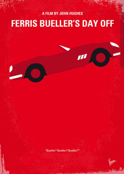 Simple Digital Art - No292 My Ferris Bueller's Day Off Minimal Movie Poster by Chungkong Art