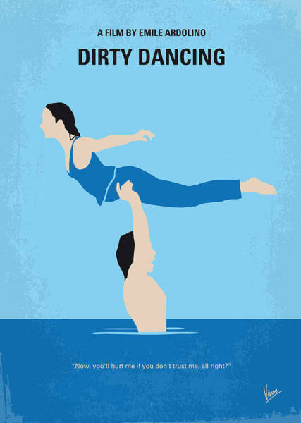 No298 My Dirty Dancing Minimal Movie Poster Art Print