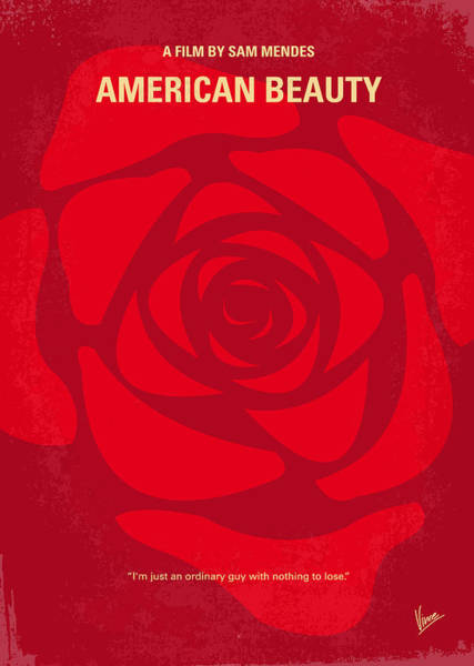 Landmarks Digital Art - No313 My American Beauty Minimal Movie Poster by Chungkong Art